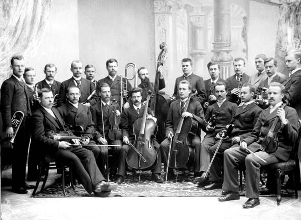 Tamperelainen amatööriorkesteri vuodelta 1893